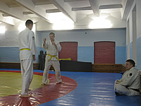 Aikido certification on red belt