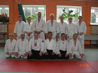 Representatives of the Mumonkan Aikido Club on seminar by Mr. Makoto Ito
