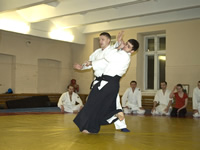 Aikido training for beginners