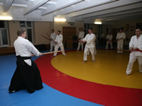 A training with bokken